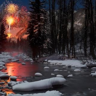 Fireworks over the Roaring Fork River